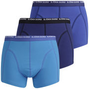 Bjorn Borg Men's 3 to Go Seasonal Boxer Shorts - Dazzling Blue