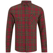Soul Star Men's Troops Check Shirt - Red