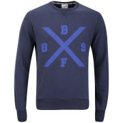 Boxfresh Men's Haani Crew Neck Sweatshirt - Navy
