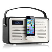 View Quest Colourgen Retro Radio and Dock - Black (8 Pin/Lightning)