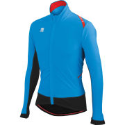 Sportful Fiandre Men's Light Wind Jersey - Cyan/Black