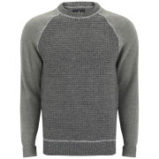 Firetrap Men's Contrast Sleeve Raglan Sweatshirt - Mid Grey Marl