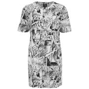 McQ Alexander McQueen Women's Printed T-Shirt Dress - Manga Print