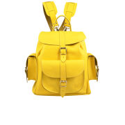 Grafea Popcorn Medium Leather Rucksack - Yellow