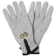 Crosshatch Men's Zipline Thinsulate Gloves - Light Grey Marl