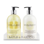Baylis & Harding Sweet Mandarin & Grapefruit 2 Bottle Set in a Clear Arylic Rack