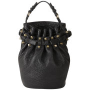 Alexander Wang Diego Pebbled Leather Bag - Black/Gold