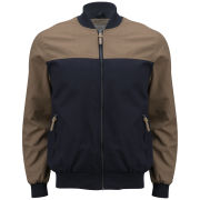 Brave Soul Men's Rob Baseball Jacket - Tobacco/Navy