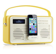View Quest Colourgen Retro Radio and Dock - Mustard (8 Pin/Lightning)