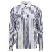 Vivienne Westwood Red Label Women's Classic Savile Row Stripe Shirt - White/Navy