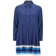 House of Holland Women's Pleated Shirt Dress - Navy