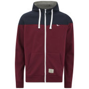 Gola Men's Cut & Sew Zip Hoody - Burgundy/Navy