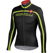 Castelli Velocissimo Team Long Sleeve Jersey - Black/Fluorescent Yellow