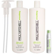 Paul Mitchell Smoothing Trio (Shampoo and Conditioner 1L, Relaxing Balm 25ml)