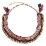 Love Rocks Embellished Necklace - Pink