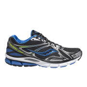 Saucony Men's Hurricane 16 Guidance Running Shoes (Medium Width) - Black/Blue/Citron