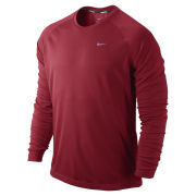 Nike Men's Miler Long Sleeve Running T-Shirt - Gym Red