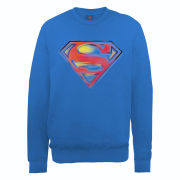 DC Comics Sweatshirt - Superman Stencil Logo - Royal Blue