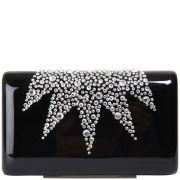 Wilbur & Gussie Exclusive to Harper's Bazaar Groucho Swarovski Crystal Hard Case Clutch - Black/Swarovski Crystal