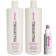 Paul Mitchell Strength Trio (Shampoo and Conditioner 1L, Liquid Treatment 100ml)