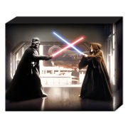 Star Wars Vader Vs Obi Wan - 50 x 40cm Canvas