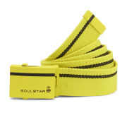 Soul Star Men's Web Belt - Neon Yellow