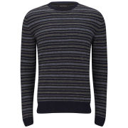 French Connection Men's Pheasant Fairisle Knitted Jumper - Charcoal
