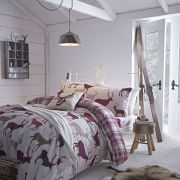 Catherine Lansfield Grampian Stag Bedding Set - Mulberry