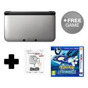 Nintendo 3DS XL Silver/Black Pokemon Alpha Sapphire Pack