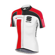Sportful Gruppetto Pro Team Short Sleeve Jersey - White/Black/Red