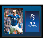 Rangers Law 14/15 - 16 x 12 Framed Photgraphic