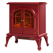 Warmlite 2000W Log Effect Stove Fire - Red