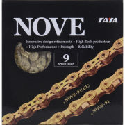 Taya Nove 91 116L 9 Speed Bicycle Chain - Ti-Gold