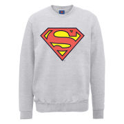 DC Comics Sweatshirt - Superman Shield - Heather Grey
