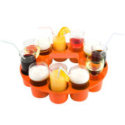 Serving Tray Sombrero Style - Orange