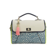 Paul's Boutique Paige Tiger Print Satchel - Blue Tiger
