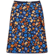 Emma Cook Women's Neoprene Flower Skirt - Orange Mini Floral