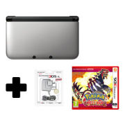 Nintendo 3DS XL Silver/Black Pokémon Omega Ruby Pack