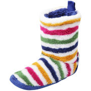 Joules Women's Fleece Slippersocks - Multi Stripe