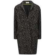 ba&sh Women's Andromede Giraffe Wool Coat - Noir