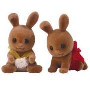 Sylvanian Families: Fawn rabbit twin babies