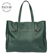 Rupert Sanderson Exclusive to Harper's Bazaar Leather Dorafell Tote - Dark Green