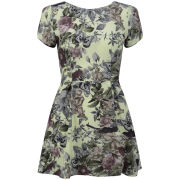 LOVE Women's Woven Skater Dress - Fantasy Floral
