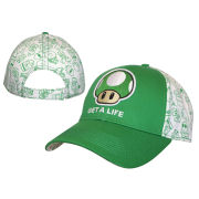 Mushroom - Adjustable Cap (White/Green)