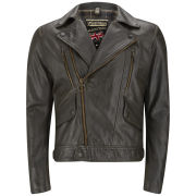 Matchless Men's 'Wild One' Leather Biker Jacket - Antique Black