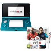 Nintendo 3DS Console (Aqua Blue) Bundle: Includes FIFA 12