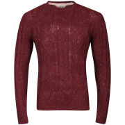 Tokyo Laundry Men's Stockport Crew Neck Knit - Oxblood