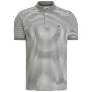 Boxfresh Men's Keckle Skinny Stripe Polo - White