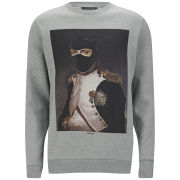 Les Benjamins Men's Napoleon Cotton Sweatshirt - Grey Melange