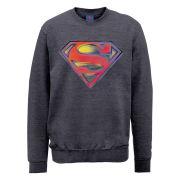 DC Comics Sweatshirt - Superman Stencil Logo - Steel Grey